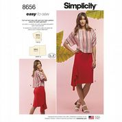 8656 Simplicity Pattern: Misses' Easy-to-Sew Skirt and Top